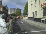 Avenida e, ao fundo, o Castelo, destino final da comitiva.