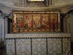 Datado de 1380, essa pintura mostra a Paixão, a Ressurreição e a Acensão de Cristo. Esta pintura sobreviveu à destruição impetrada pela Reforma porque foi transformada numa mesa de trabalho.