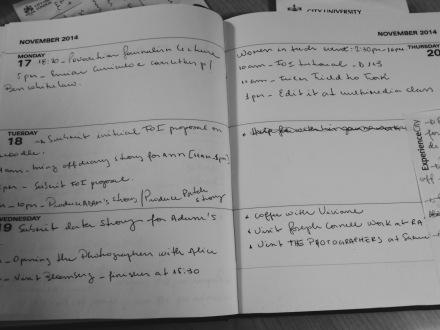 Aqui minha agenda para esta semana com algumas das atividades e deadlines que preciso cumprir